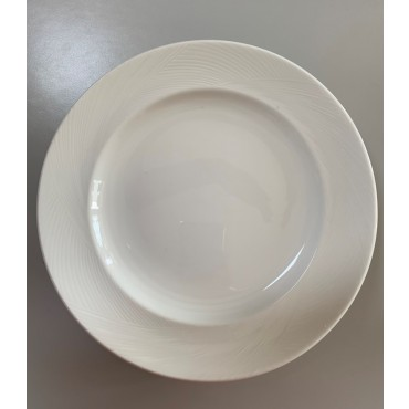bulk 24 Bone Chinarrow Rim Round Side Plate Serving Dinner White 22x2cm