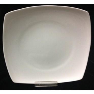 bulk 24 Bone China Square Dessert Plate Serving Dinner Kitchen White 20x2cm