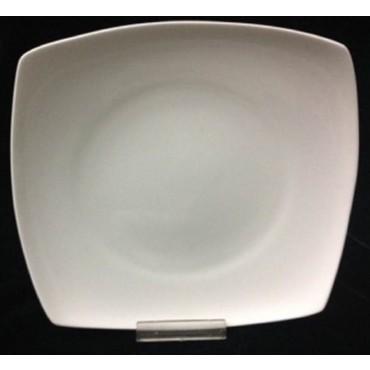 bulk 24 Bone China Square Dessert Dinner Plate Serving Dinner White 26x2cm