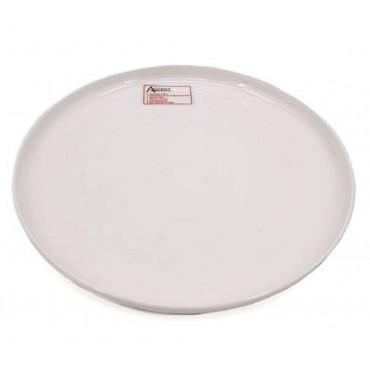 bulk 24 Bone China Round Plate Serving Dinner Kitchen White 17x2cm