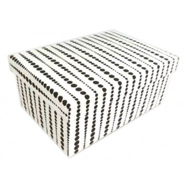 bulk 2 Set Of 18 Raised Pearl Pattern Gift Box Party Wedding Paper Black 43x16cm