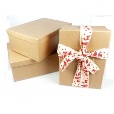 bulk 2 Set Of 18 Gift Box Party Wedding Paper Plastic Natural 43x16cm