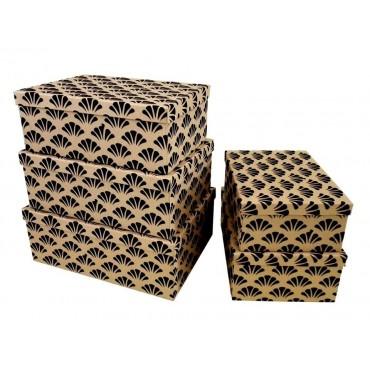 bulk 2 Set Of 10 Felt Flocking Kraft Gift Box Party Wedding Paper 44x18cm