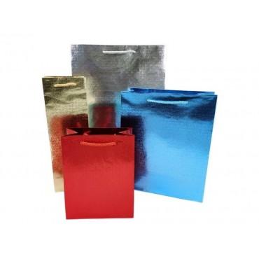 bulk 48 Xlarge Metallic Diamond Gift Bag Xlge 4 Assort Party Wedding 30x40cm