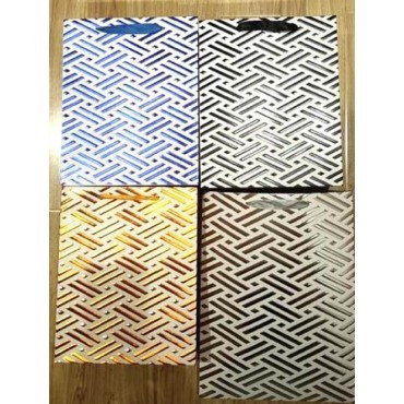 bulk 24 Medium Foiled Checker Plates Gift Bag 4 Assort Party Wedding 18x23cm
