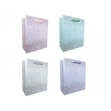 bulk 24 Xlarge Foiled Water Droplets Gift Bag 4 Assort Party Wedding 30x40cm