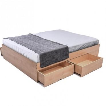 Bozz 4 drawers storage platform Bed Maple