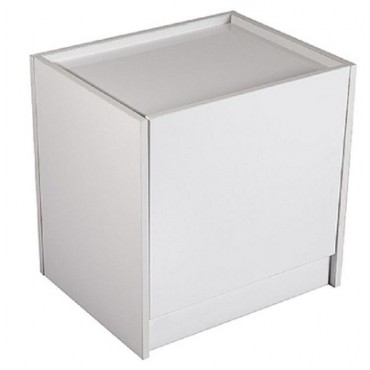Elva 1 Drawer Bedside Table High Gloss White