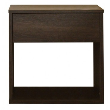 Emma Basic 1 Drawer Bedside Table Antico Wenge