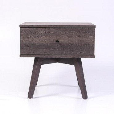 Miranda Bedside Table Lamp Bed Side Unit Nightstand Antico Wenge 50x50cm