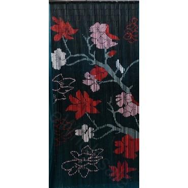 BAMBOO CURTAIN BLACK FLOWER 90 STRANDS