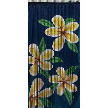 BAMBOO CURTAIN YELLOW FLOWER 90 STRANDS
