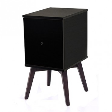 Gordon Bedside Table Timber Frame Black
