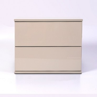 Jupiter Bedside Table High Gloss Khaki