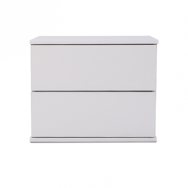 Jupiter Bedside Table High Gloss White