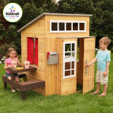 Kidkraft Modern Outdoor Playhouse Cubby House